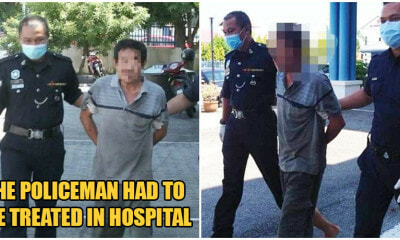 55yo Melaka Man Insults & Slaps Police After Being Caught Using Emergency Lane At Roadblock - WORLD OF BUZZ 1