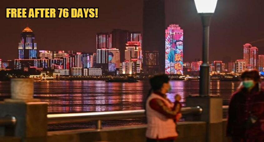 Wuhan Celebrates Freedom With A Light Show As Government Uplifts 11 Week Lock Down - WORLD OF BUZZ