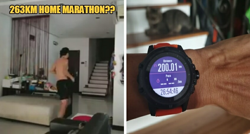 M'sian Man Does A 263km Home Marathon - WORLD OF BUZZ