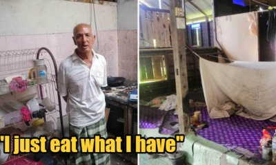 A 69yo M'sian Man Eats Rice With Salt & Bread Dipped In Water Every Day Because He Cannot Afford Proper Meals - WORLD OF BUZZ 2