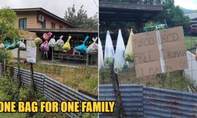 A Kampung In Sabah Helps Out One Another By Hanging Bags Of Free Vegetables & Produces On Fences In The Midst Of MCO - WORLD OF BUZZ