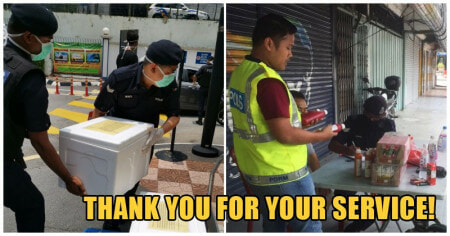 Abang Police Brickfields Gave His Food Away To Feed The Homeless. Thank You! - WORLD OF BUZZ