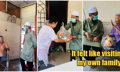 Charitable Ustaz Donates Essential Food Items To Elderly Chinese Uncles & Aunties During MCO - WORLD OF BUZZ 8