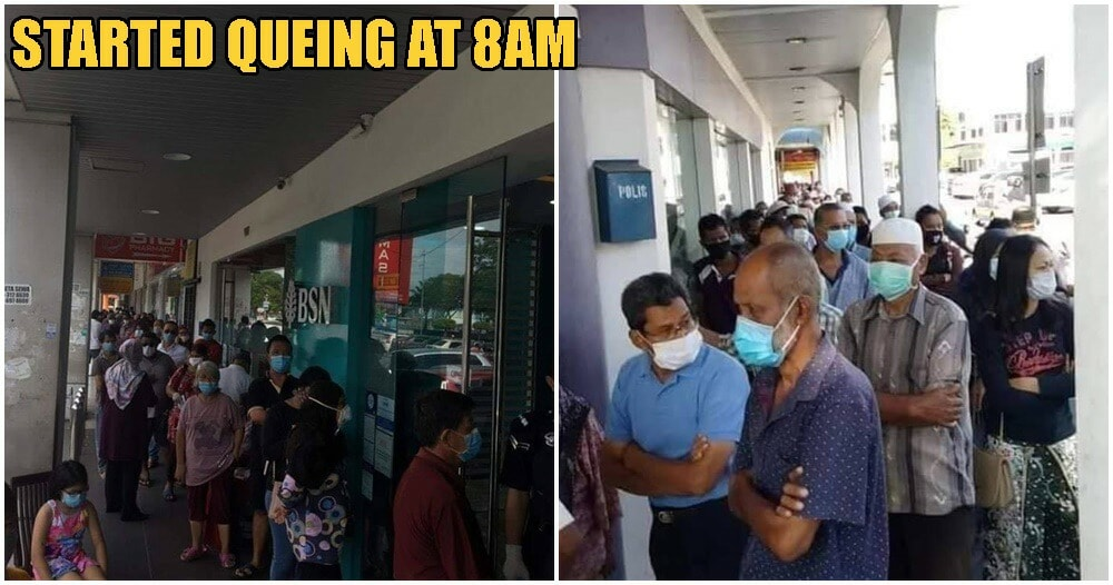 Crowds Of M'sians Seen Queuing Up, Not Practicing Social Distancing As BPN Govt Fund Set To Go Out Today - WORLD OF BUZZ 4