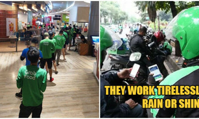 Dedicated Grab Food Riders Continue To Work Rain Or Shine To Collect & Deliver Meals Daily - WORLD OF BUZZ