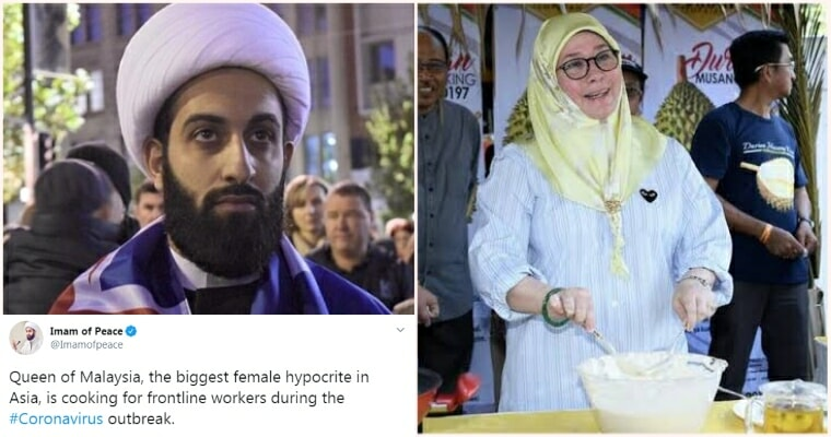 """""""Imam of Peace"""" Insults Malaysia's Queen On Twitter, Faces The Wrath of Malaysians - WORLD OF BUZZ"""