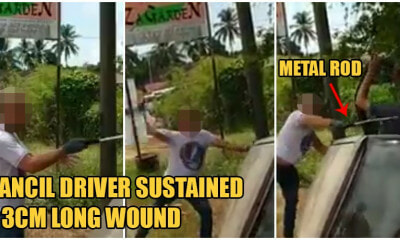 Kelantan Road Bully Violently Beats Up Kancil Driver Who Crashed Into Ditch For Overtaking Him - WORLD OF BUZZ 3