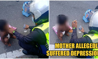 Kind Policemen Help Wandering Mum & Her Baby On The Streets, Buys Them Food & Diapers - WORLD OF BUZZ 4
