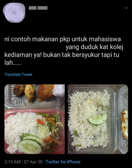 Malaysian University Student Complains About Quality of Free Food Given, Netizens Outraged - WORLD OF BUZZ 2