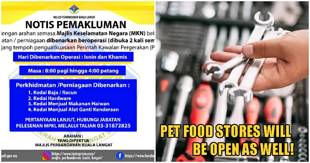MKN: Hardware Stores, Spare Part Shops Will Be Open Every Monday And Thursday - WORLD OF BUZZ