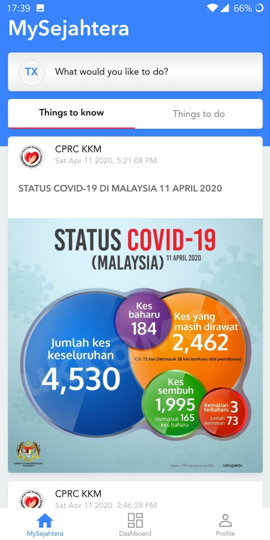 M'sian Government Developed Mysejahtera Mobile App For Citizens To Monitor Covid-19 Outbreak - World Of Buzz 1