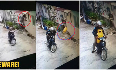 M'sians Beware! Motorist Spotted Climbing Into Rawang House To Steal Gas Tank In Broad Daylight - WORLD OF BUZZ 4