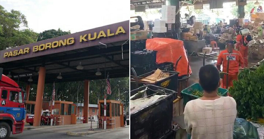 Pasar Borong Confirms 2 Cases of Covid-19, Market Closed On Friday For Disinfection - WORLD OF BUZZ