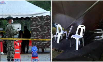 PDRM Officer Left Severely Injured In The Head After MCO Roadblock Tent Collapses - WORLD OF BUZZ 2