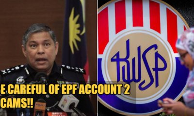 PDRM Warns M'sians To Beware Of EPF Account Two Scams After Scammers Send Text Messages & Create Fake Websites - WORLD OF BUZZ