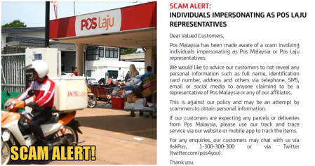 Pos Malaysia Warns Public Of Scammers Impersonating Pos Laju Representatives - WORLD OF BUZZ 3