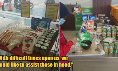 Shah Alam Petrol Station Starts Community Table That Offers Free Essentials To Those Who Need It During MCO - WORLD OF BUZZ