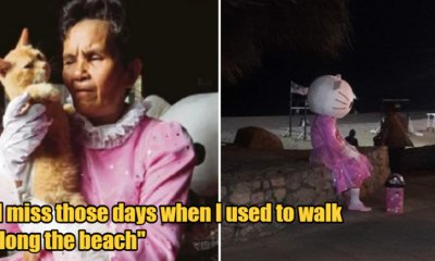 "Teluk Cempedak's ""Hello Kitty"" Siti Is Struggling To Make A Living Because She Is Unable To Meet Beach-Goers Amidst MCO. - WORLD OF BUZZ"