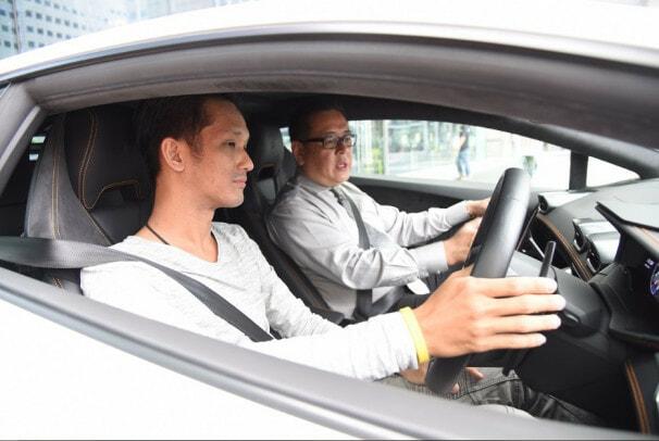 asian in car