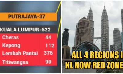 UPDATE: ALL Regions Of KL Are Now Covid-19 Red Zones According to Ministry of Health - WORLD OF BUZZ