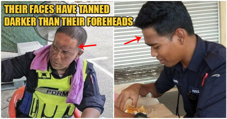 Viral Photos Show PDRM Officers With Deep Tan Marks After Manning MCO Roadblocks Daily - WORLD OF BUZZ 3