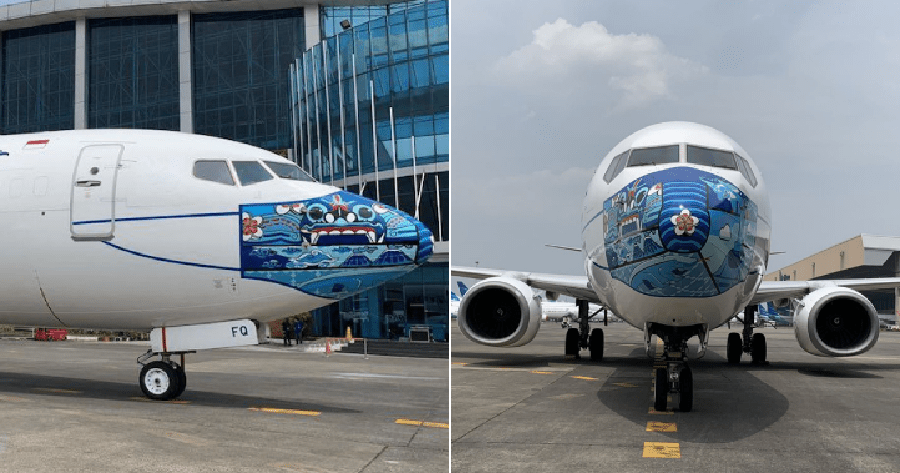 Garuda Indonesia S Planes Are Donning Colourful Face Masks To Raise Covid 19 Awareness World Of Buzz