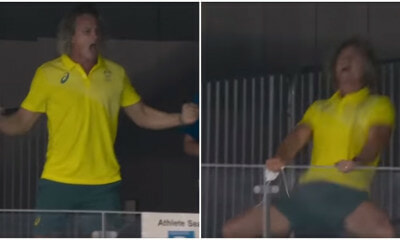 Deanboxall Swimming Coach Reaction At Win