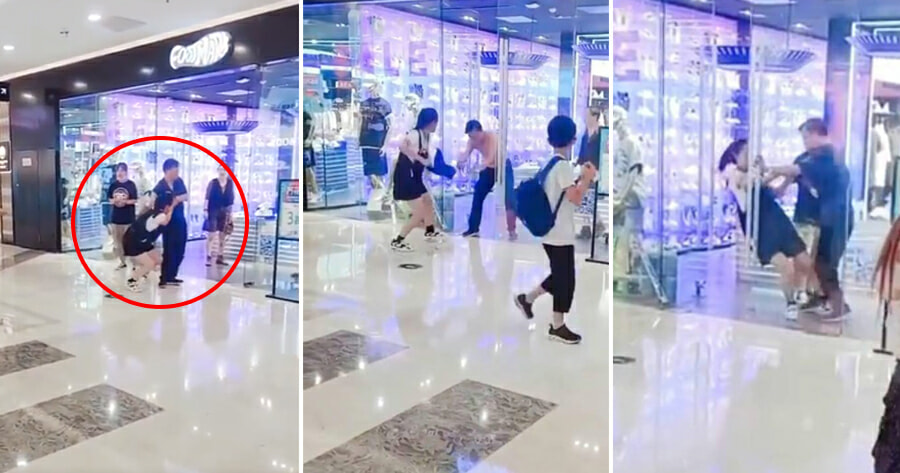 Girlfriend Fighting With Boyfriend In China
