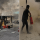 Pdrm Helped Extenguish Food Truck Fire