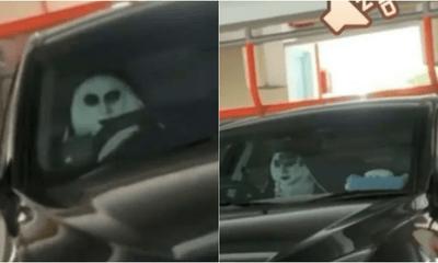 Valak The Nun Car Seat Cover Prank