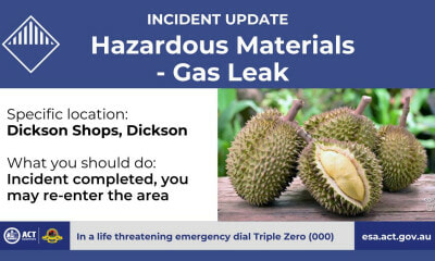 Durian Mistakenly Assumed As Gas Leak In Canberra