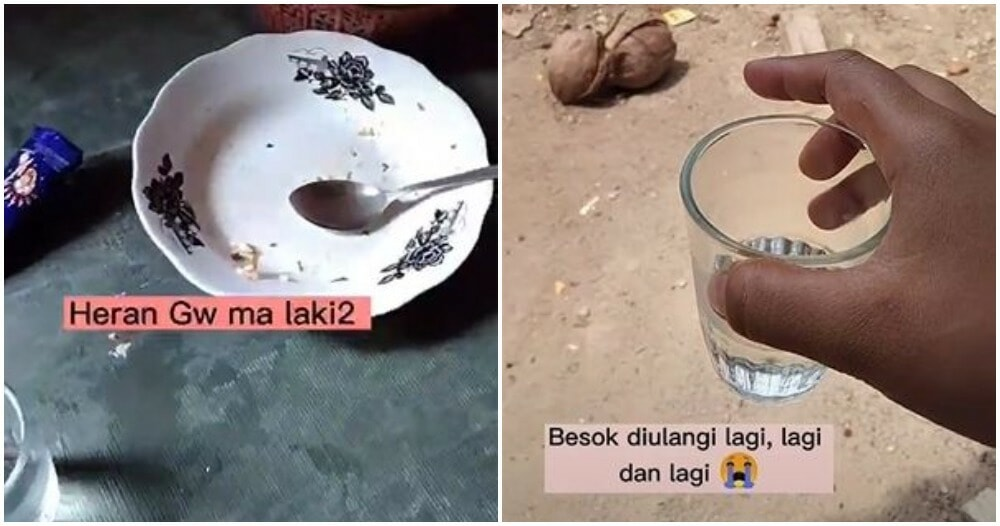 Indonesian Wife Throws Dirty Dishes Outside